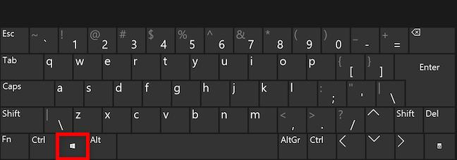 Open the Windows 11 Start Menu with the Windows key