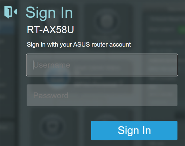 Log into your ASUS router