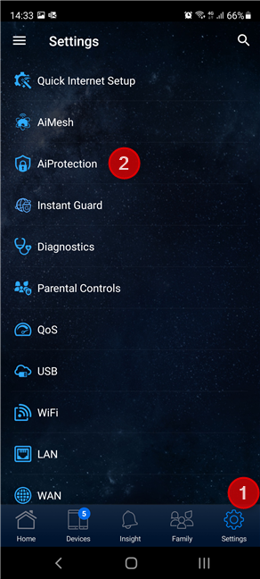 Go to Settings > AiProtection