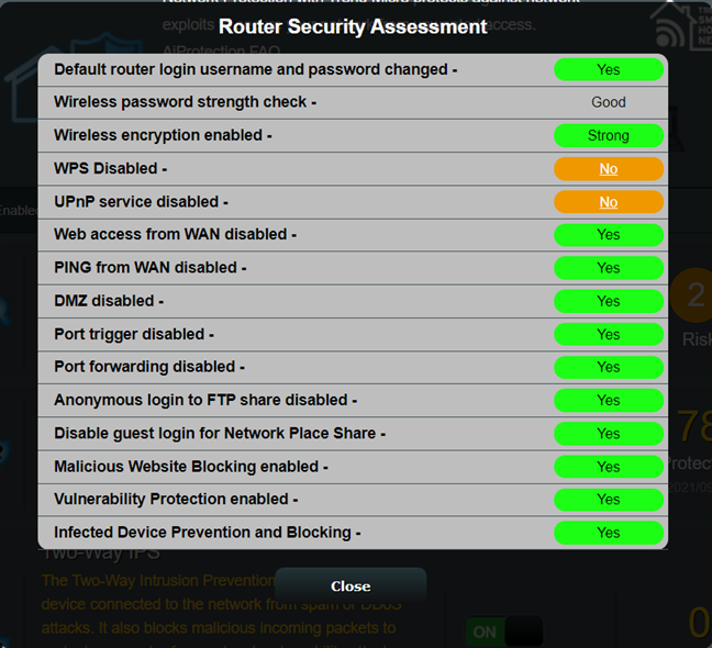 The results of the Router Security Assessment