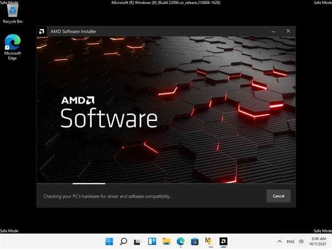 Installing a driver in Windows 11's Safe Mode