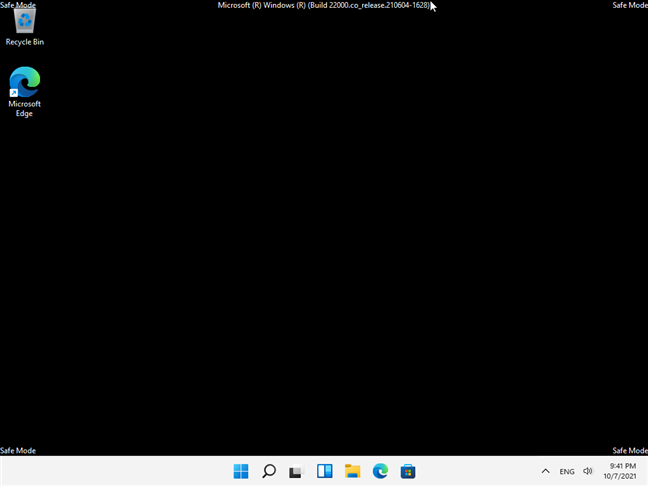 The standard Safe Mode from Windows 11