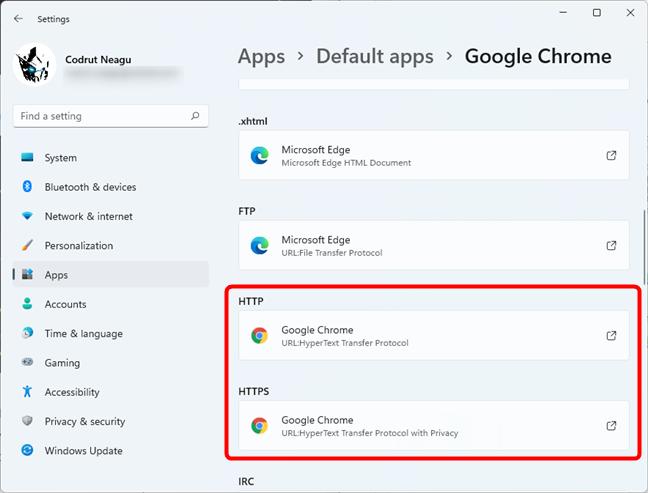 The chosen web browser is set as default