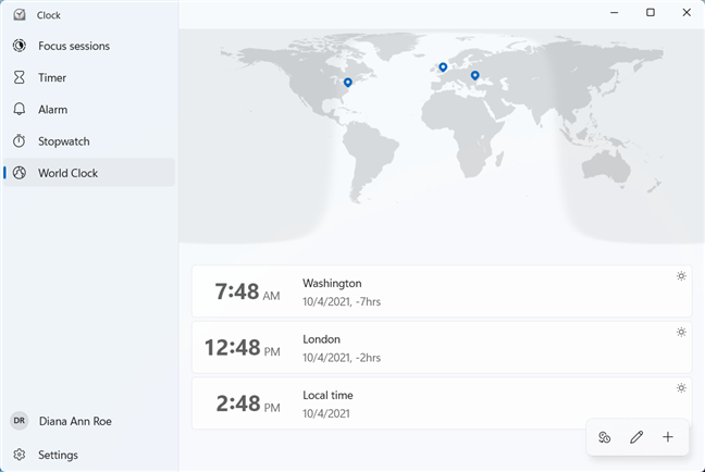 Find out the current time for other parts of the world
