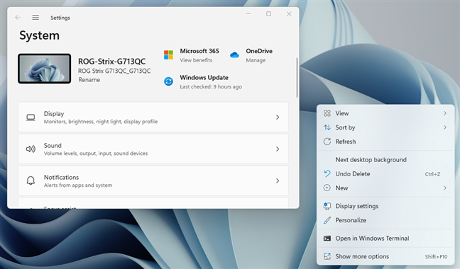 Windows 11's windows and menus have rounded corners
