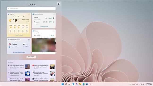 The Widgets from Windows 11