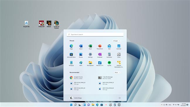 Windows 11's Start Menu and taskbar are centered