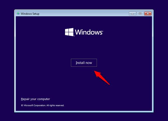 Install Windows 11 normally