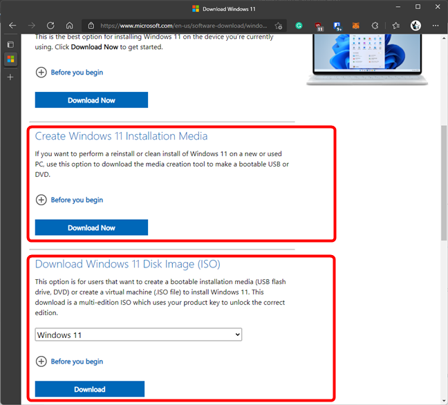 You don't need a product key to download Windows 11