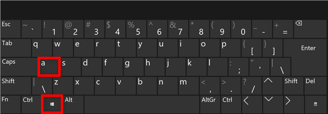 The keyboard shortcut for Quick Settings in Windows 11