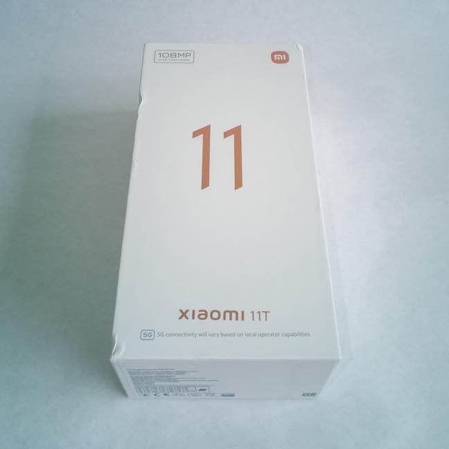The box Xiaomi 11T comes in