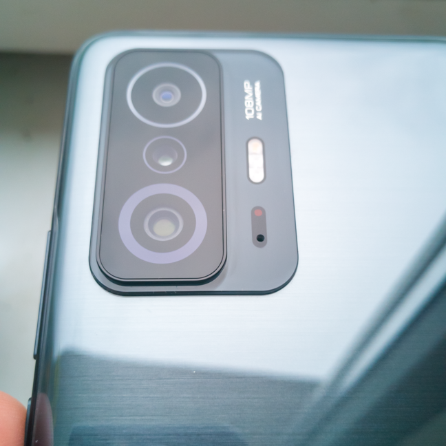 The camera cluster on the back of the Xiaomi 11T