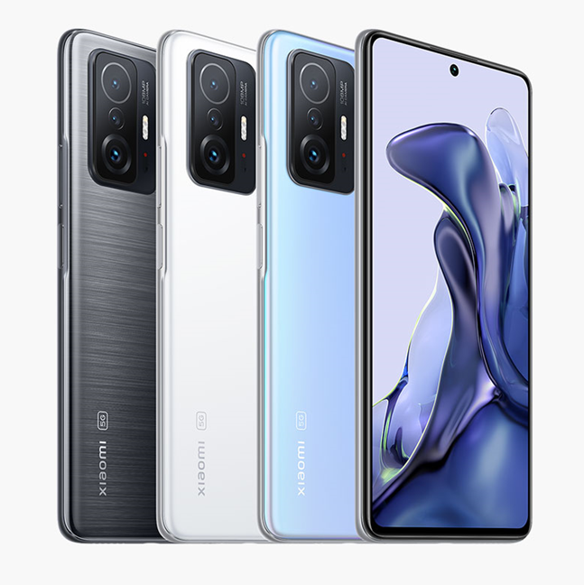 The colors available at launch for the Xiaomi 11T